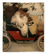 In The Automobile Fleece Blanket