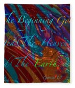 In The Beginning Fleece Blanket