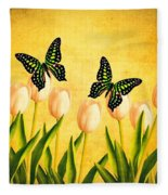 In The Butterfly Garden Fleece Blanket