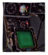In The Cockpit Fleece Blanket