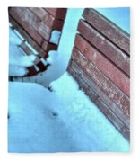 In The Coldest Of Days...i Still Wait... Fleece Blanket
