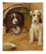 In The Dog House Fleece Blanket