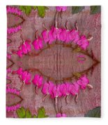 In The Eye Of The Koi Pop Art Fleece Blanket