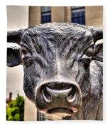 In The Eyes Of The Bull Fleece Blanket