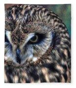 In The Eyes Of The Owl Fleece Blanket