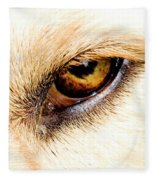 In The Eyes.... Fleece Blanket
