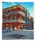 In The French Quarter Painted Fleece Blanket