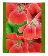 In The Garden. Geranium Fleece Blanket