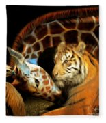 In The Jungle 20150215brun Square Fleece Blanket