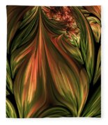 In The Midst Of Nature Abstract Fleece Blanket