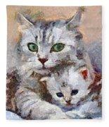 In The Mothers Embrace Fleece Blanket