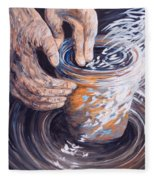 In The Potter's Hands Fleece Blanket