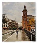 In The Rain - Puente De Triana Fleece Blanket