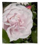 In The Rose Garden Fleece Blanket