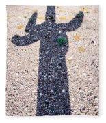 In The Shadow Of A Saguaro Cactus Fleece Blanket