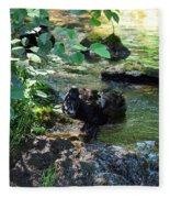 In The Shadows Of The Creek Fleece Blanket
