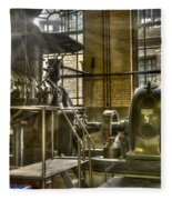 In The Ship-lift Engine Room Fleece Blanket
