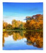 In The Stillness Fleece Blanket