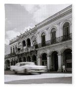 The Streets Of Havana Fleece Blanket