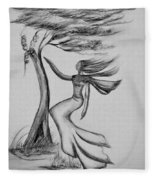 In The Wind She Dances Fleece Blanket