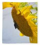 In The Wind - Sunflower Fleece Blanket