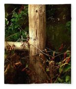 In The Woods By The River Fleece Blanket
