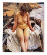 In Werners Rowing Boat Fleece Blanket