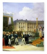 Inauguration Of A Monument In Memory Of Louis Xvi 1754-93 By Charles X 1757-1836 At The Place De La Fleece Blanket