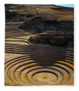 Inca Crop Circles At Moray Fleece Blanket