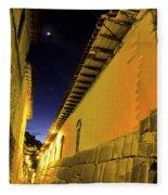Incan Street Cusco Peru Fleece Blanket