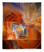 Incendiary Ammunition Abstract Fleece Blanket