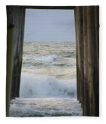 Incoming Tide At 32nd Street Pier Avalon New Jersey Fleece Blanket