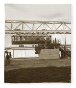 Incredible Hanging Railway  1900 Fleece Blanket