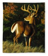 Whitetail Buck - Indecision Fleece Blanket