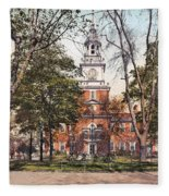 Independence Hall 1900 Fleece Blanket