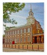 Independence Hall Philadelphia  Fleece Blanket