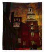 Independence Hall Philadelphia Let Freedom Ring Fleece Blanket