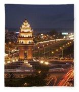 Independence Monument, Cambodia Fleece Blanket