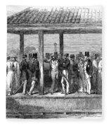India Train Station, 1854 Fleece Blanket