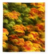 Indian Blanket Psychedelic Fleece Blanket
