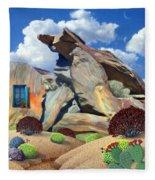 Indian Canyon Rocks Fleece Blanket