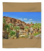 Indian Canyons View In Palm Springs Fleece Blanket
