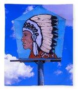 Indian Chief Sign Fleece Blanket