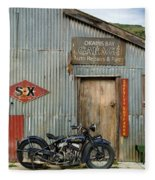 Indian Chout At The Old Okains Bay Garage 1 Fleece Blanket