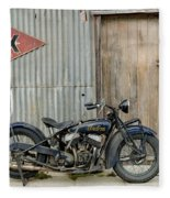 Indian Chout At The Old Okains Bay Garage 2 Fleece Blanket