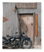 Indian Chout At The Old Okains Bay Garage 3 Fleece Blanket