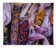 Indian Corn Harvest Fleece Blanket