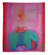 Indian Elephant Fleece Blanket