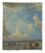 Indian Encampment Fleece Blanket
