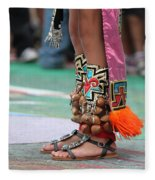 Indian Feet Fleece Blanket
